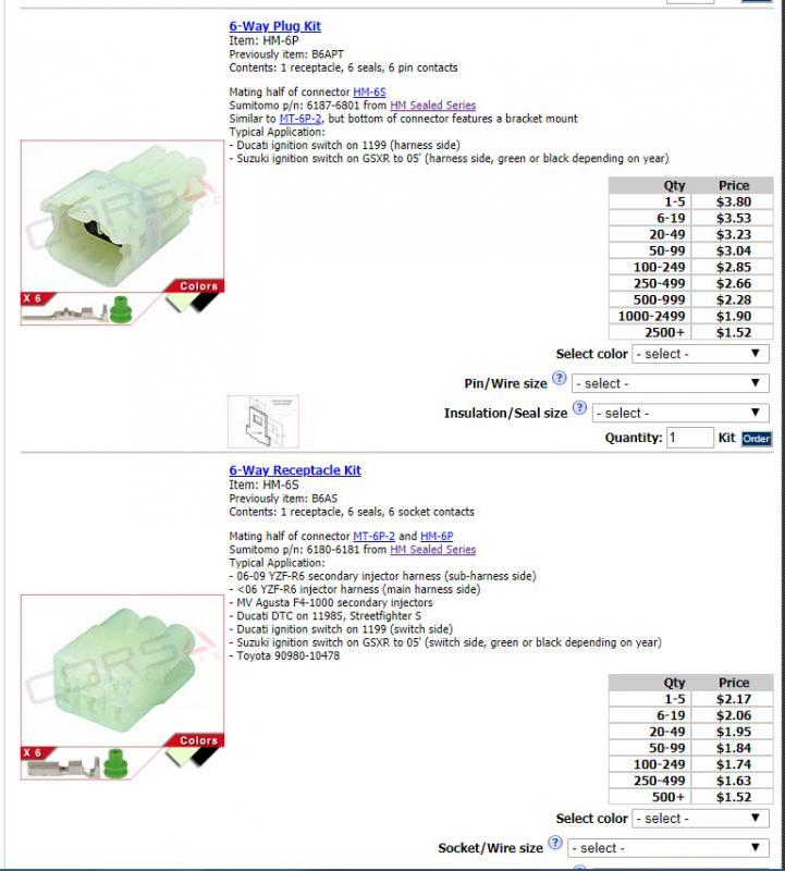 Headlight electrical connector - Suzuki SV650 Forum: SV650, SV1000 on