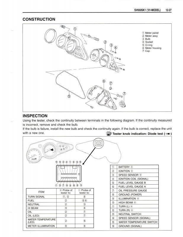 2001 Sv650s Speedo And Tach Issue Suzuki Sv650 Riders Forum