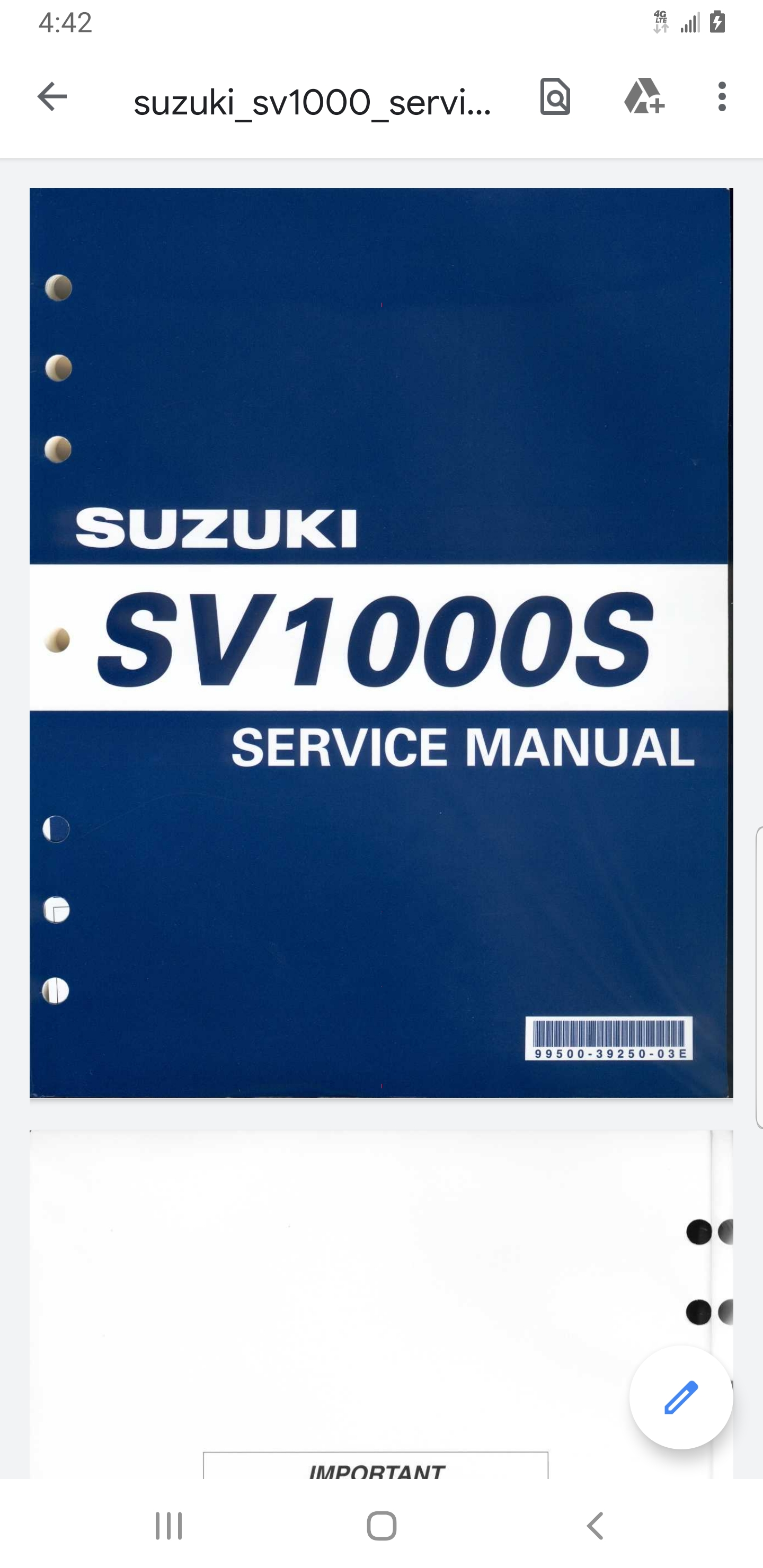 99 02 Owner S And Service Manual Pdf S Anyone Suzuki Sv650 Riders Forum